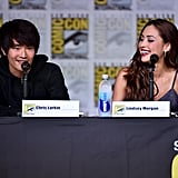 Pictured: Christopher Larkin and Lindsey Morgan.