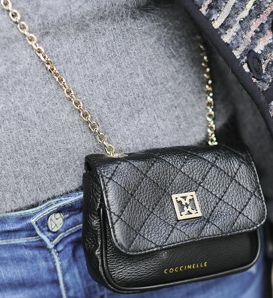 Gold and quilted details injected a luxe touch into this adorable mini bag.