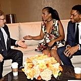 Kerry Washington and Nnamdi Asomugha at the Humanity Gala Benefiting USC Shoah Foundation in 2016