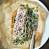 Sesame Salmon With Shiitake Mushrooms