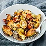 Balsamic Oven Roasted Brussels Sprouts With Bacon