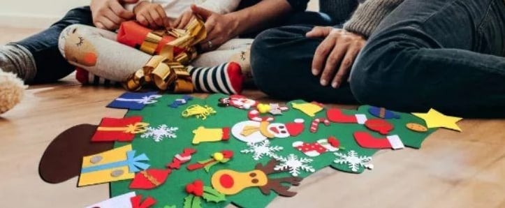Felt Christmas Trees For Kids That Are Easy to Make