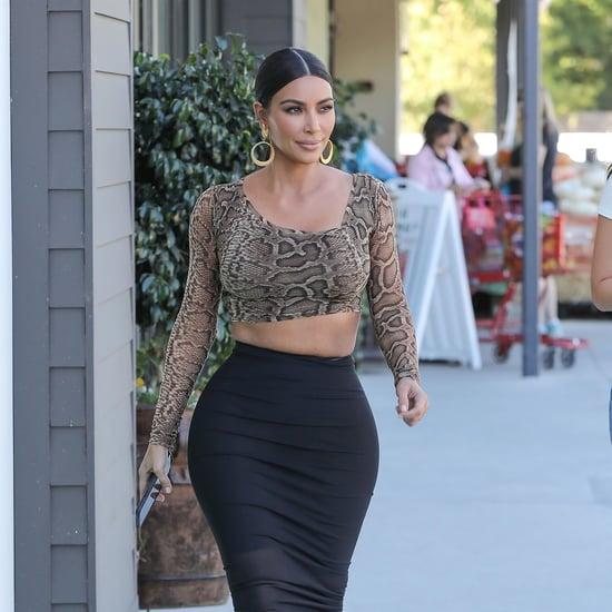 Kim Kardashian Looks Amazing in These Sexy Zebra Heels