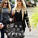 Jessica Simpson and fried Cacee Cobb went shopping in Beverly Hills earlier today.