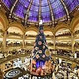 Paris' Galeries Lafayette installed its magnificent Christmas tree.