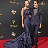 The Piece Was Designed by Zac Posen, Who Walked With the Star on the Red Carpet