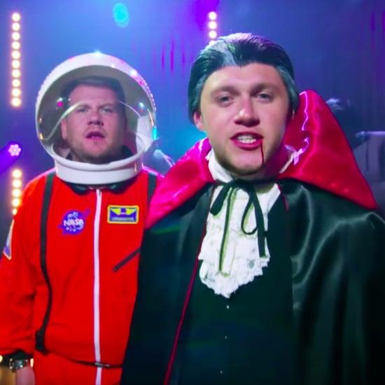 "Niall Horan and James Corden's Halloween ""Pony"" Video"