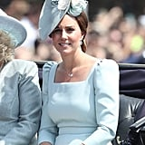 Kate Middleton Hair and Makeup Trooping the Colour 2018