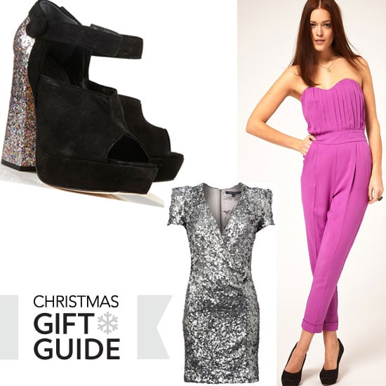 2011 Christmas Gift Guide: Killer Party Season Style: Jumpsuits, Glitter Heels, Sequinned Party Dresses and more!