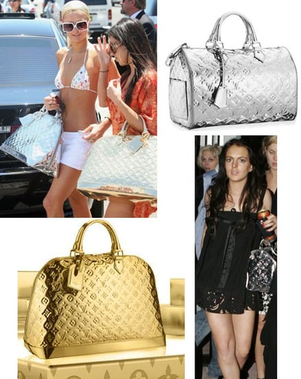 The Look for Less: Louis Vuitton Silver Speedy 30