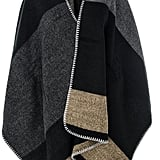 Quiz Grey Check Blanket Cape (£27)