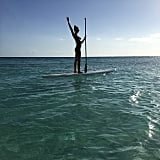 Erin Heatherton made her Bahamian vacation a little more active with a paddleboard adventure.