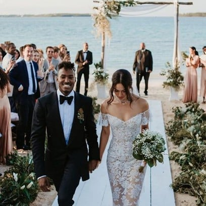 Shanina Shaik Wedding Dress Pictures