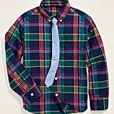 Built-In Flex Shirt & Tie Set