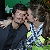 Miranda Kerr and Orlando Bloom showed PDA at Global Green's pre-Oscars party in LA.