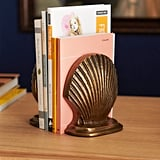 Drew Barrymore Flower Home Antique Brass Sea Shell Bookends