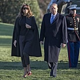 Melania Trump's Red Snakeskin Heels