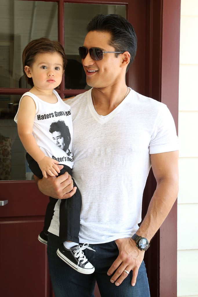 Mario lopezs son in a saved by the bell t shirt popsugar celebrity there was a bayside flashback when mario lopez and his family stepped out for la parents bookmarktalkfo Image collections
