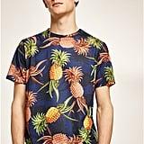 Topman Navy Pineapple T-Shirt