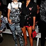 Gigi Hadid and Irina Shayk at the Jeremy Scott New York Fashion Week Show