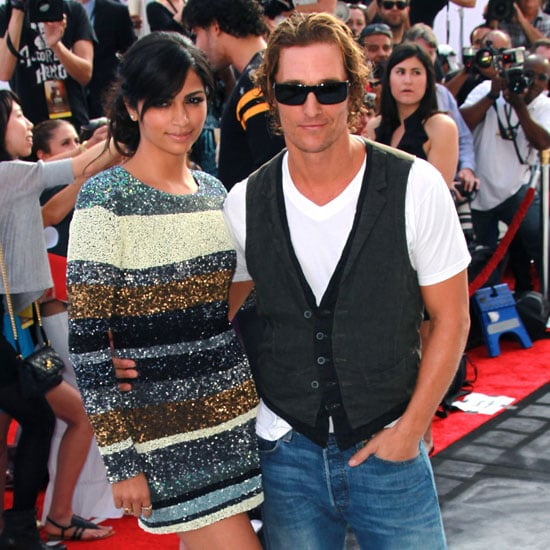 Matthew McConaughey and Camila Alves Pictures at Iris Premiere