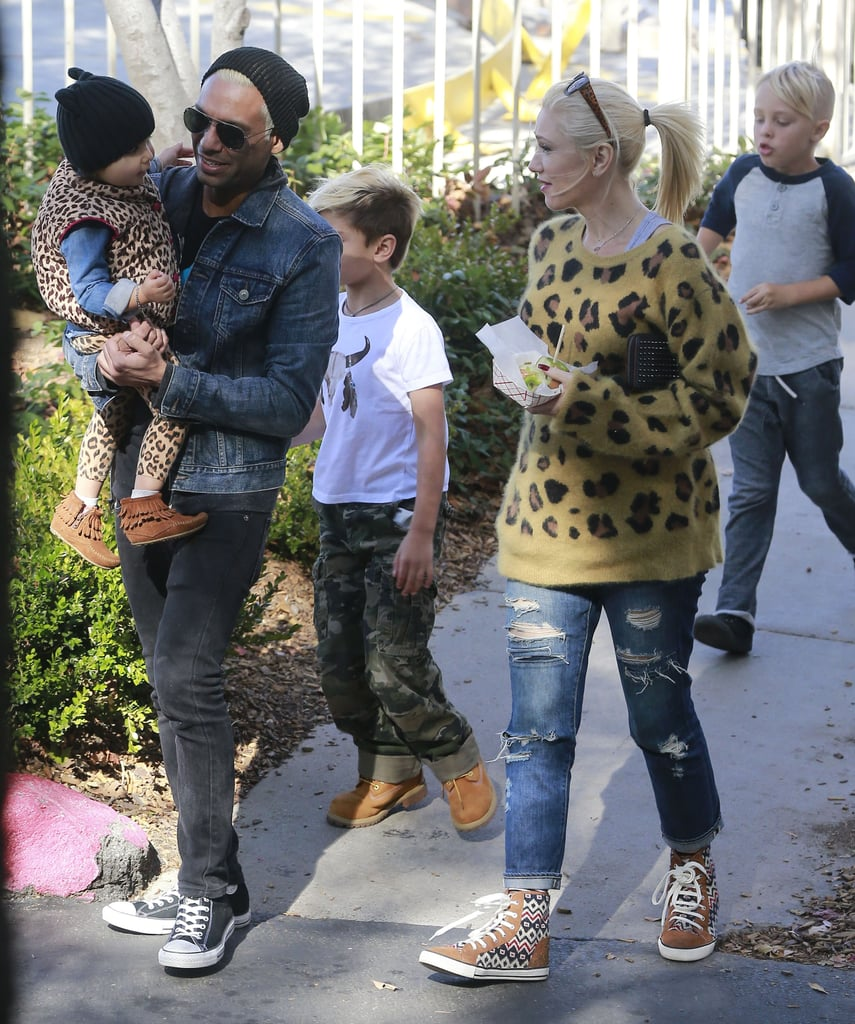 Gwen Stefani met up with her No Doubt bandmate Tony Kanal and his daughter, Coco.
