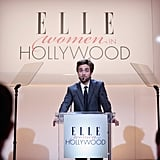 Robert Pattinson was onstage at the Elle Awards in LA.