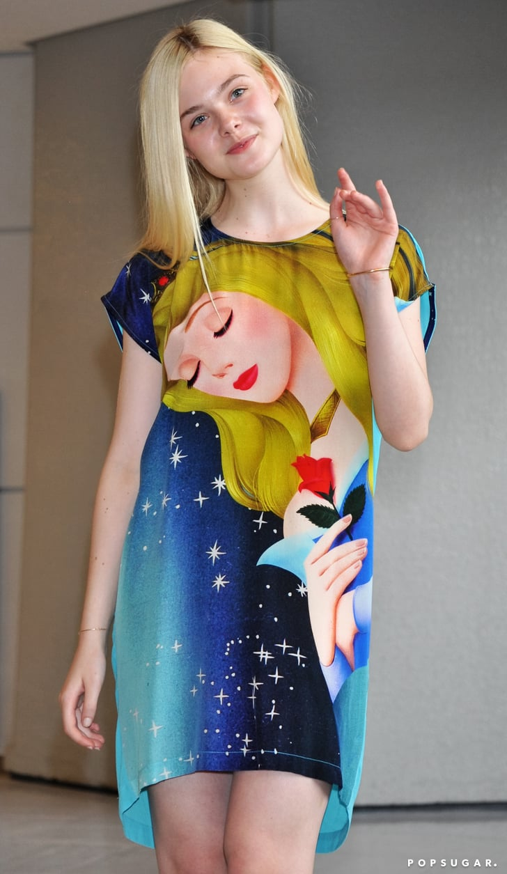elle fanning made her arrival in tokyo in a sleeping