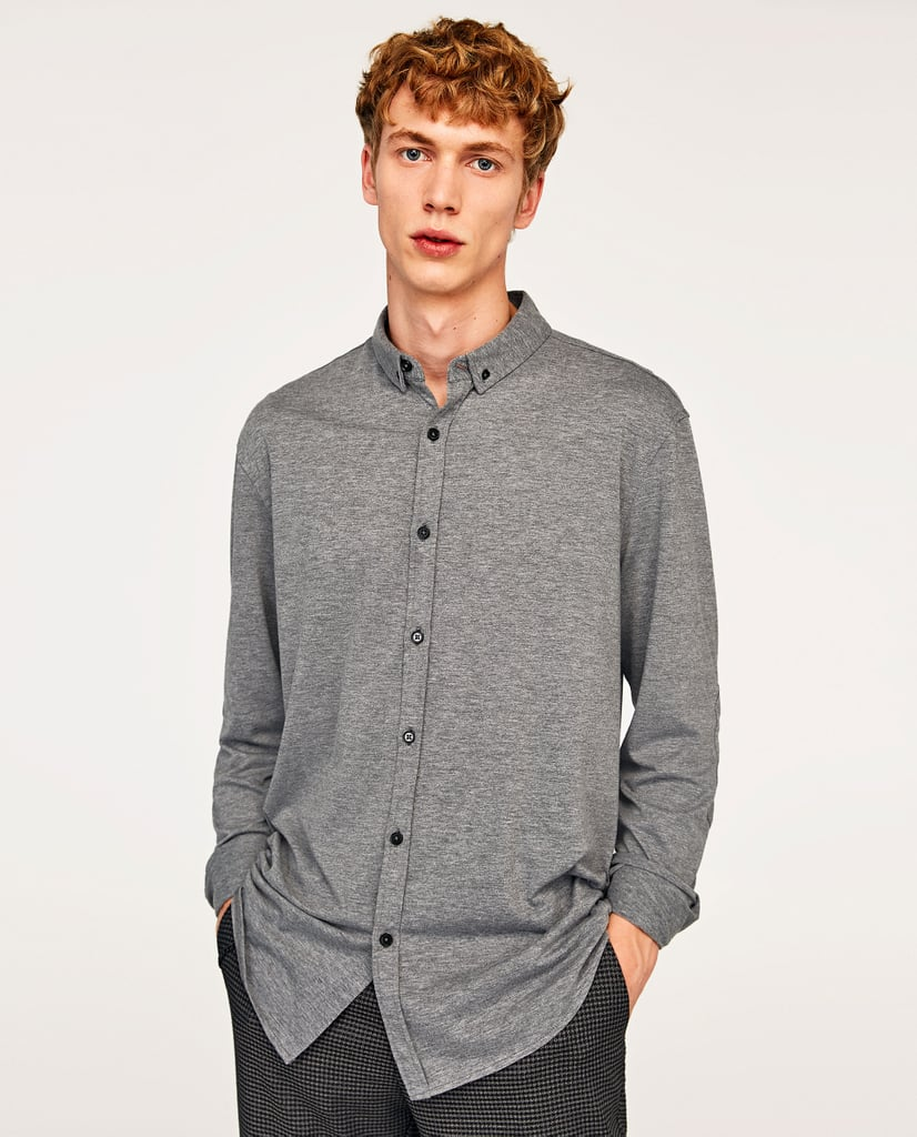 Zara Shirt With Elbow Patches