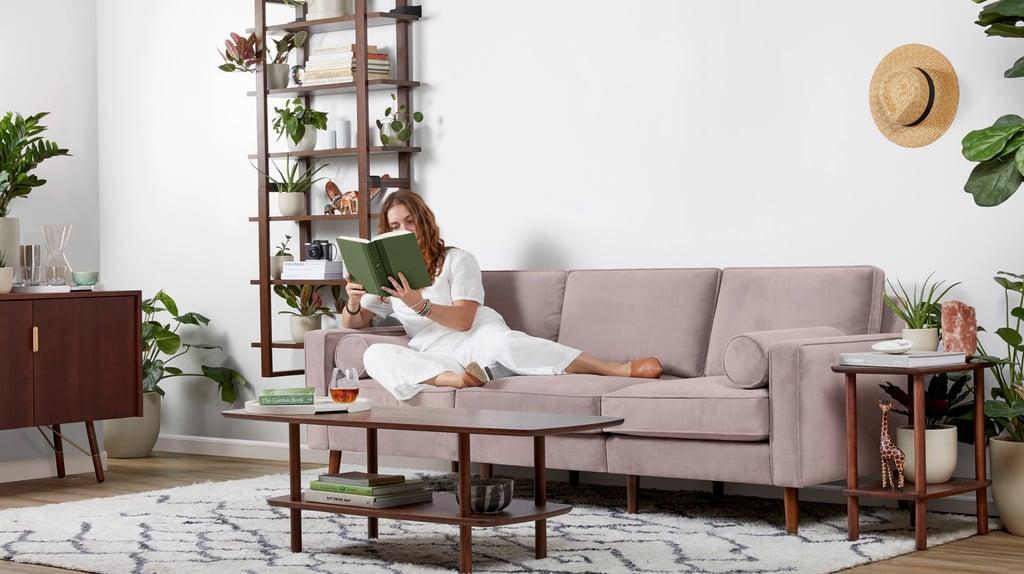 Burrow Nomad Velvet Sectional Sofa