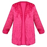 Fuchsia Faux Fur Coat