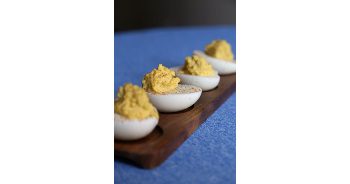 Spicy Deviled Eggs Ugly Sweater Christmas Party Menu