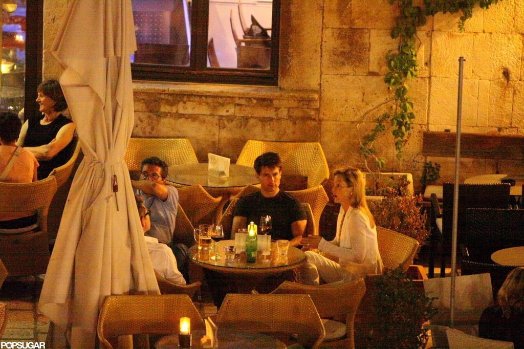 Tom Cruise grabbed a drink with company in Hvar.