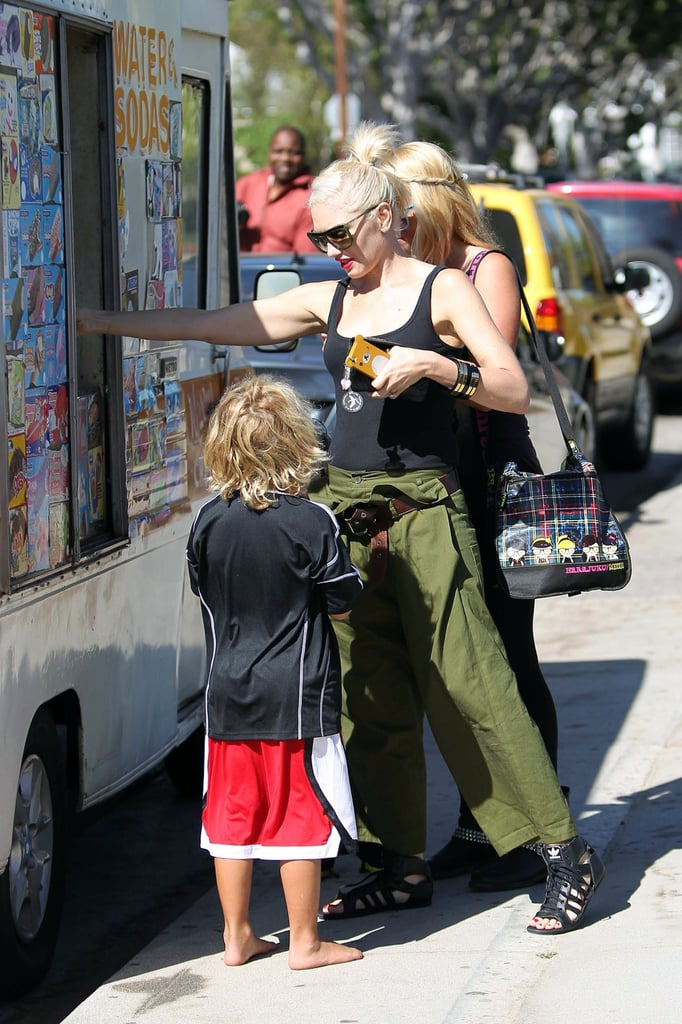 Gwen Stefani Makes a Park Pit Stop With Her Boys