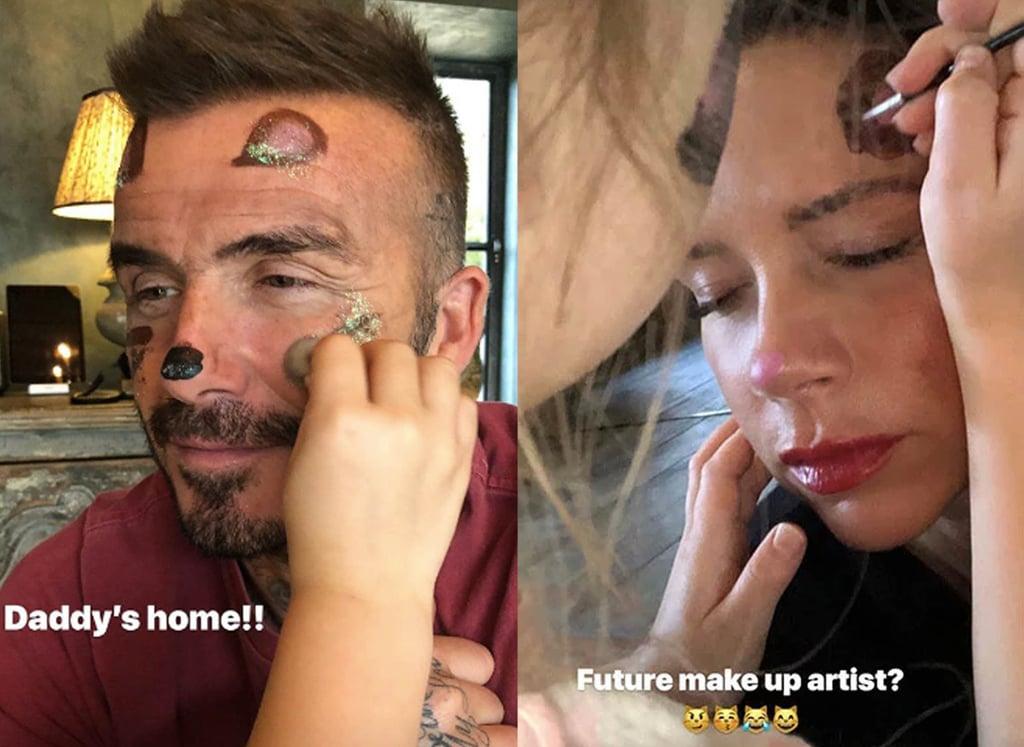 Harper Does Victoria and David Beckham's Makeup