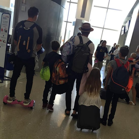 Victoria Beckham Shares a Family Airport Picture 2015