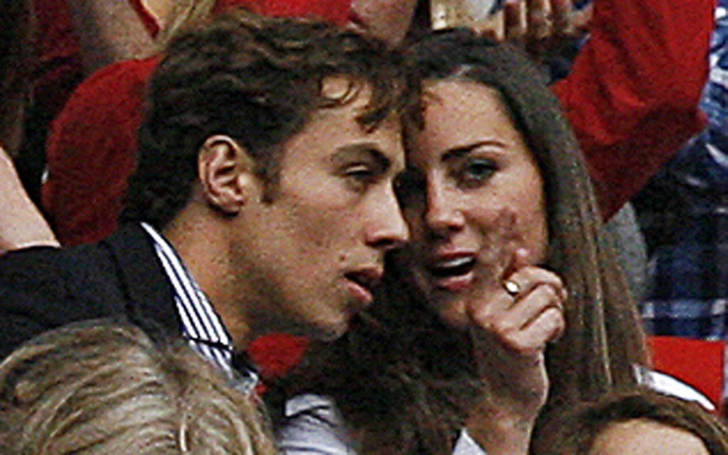 "Kate Middleton's brother James was on hand in July 2007 for the ""Concert for Diana"" in London."