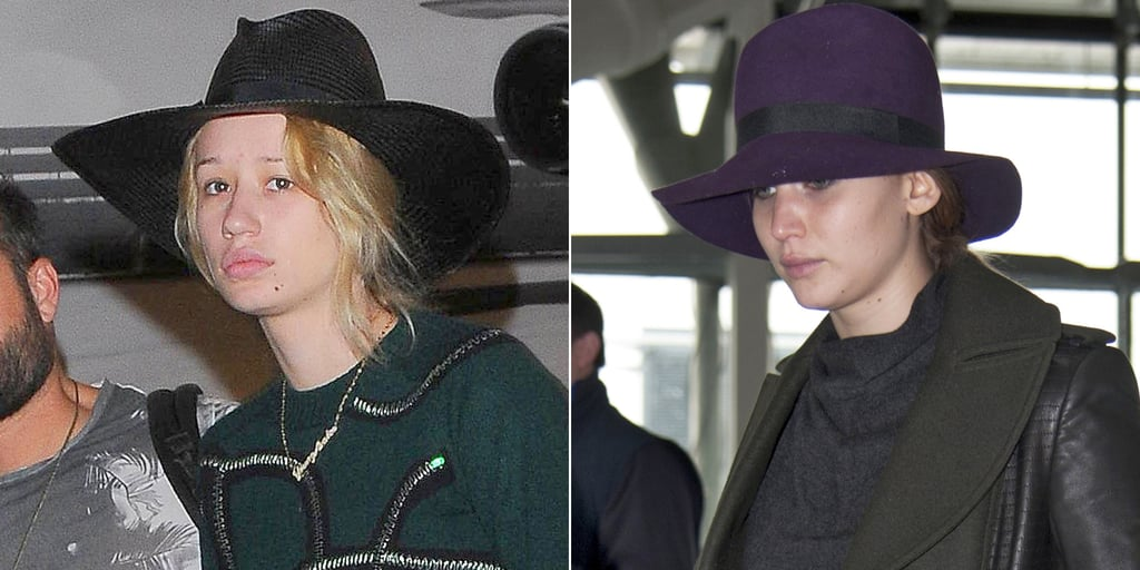 Talk about a double take — when Iggy Azalea made her way through LAX on Thursday, we had to look twice before realizing she wasn't actually Jennifer Lawrence! Iggy's blond hair and bare face were slightly covered by a wide-brimmed hat much like the toppers that Jennifer favors, making for a seriously similar look to the actress. And the similarities didn't end there; the singer was actually wearing an almost identical skirt to one that Jennifer wore back in April 2013. Iggy and Jennifer aren't the only stars who bear a resemblance to each other — these celebrity look-alikes will blow your mind.