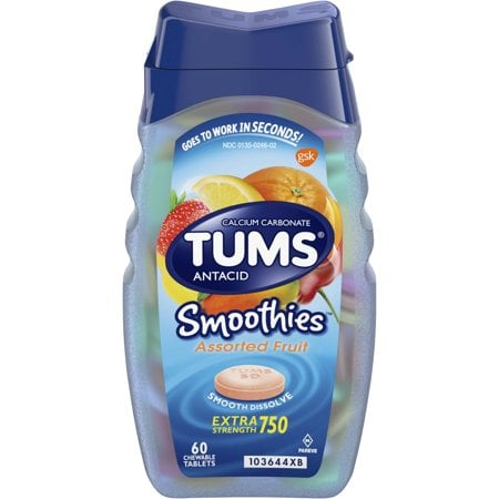 Tums Smoothies Assorted Fruit Extra Strength Antacid