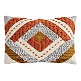 Geometric Striped Wool Lumbar Pillow