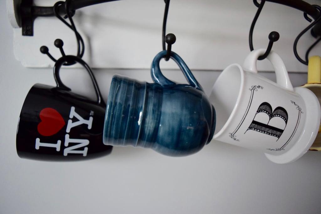 Extra and unused coffee mugs
