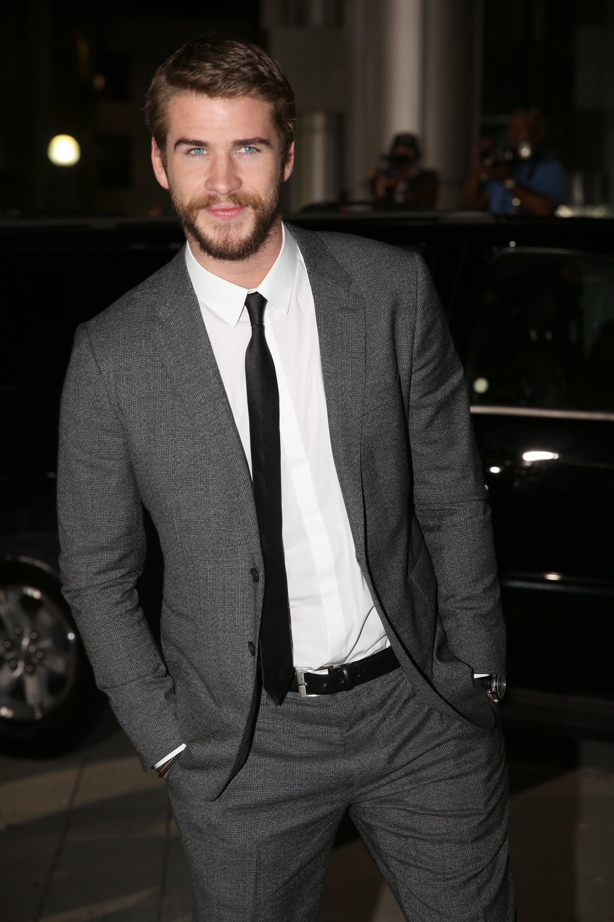 Liam Hemsworth supported his brother's premiere.
