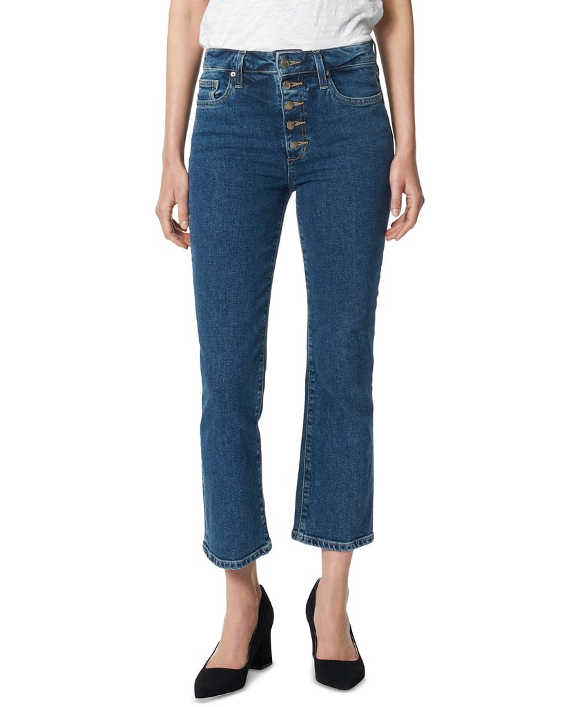Joe's Jeans Callie Exposed-Button Straight Crop Jeans