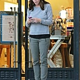 Jennifer Garner used her phone outside of Barneys in LA.