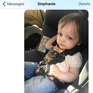 Dad's Texts to His Wife When His Kid Throws Up in the Car