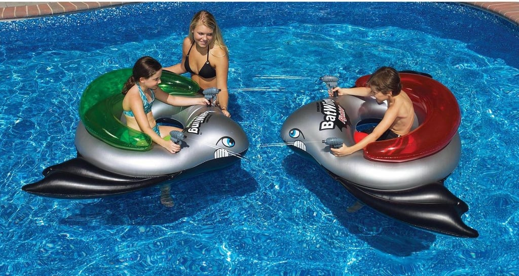 Swimline BatWing Fighter Squirt Water Blasters Ride On Inflatable Tube Set