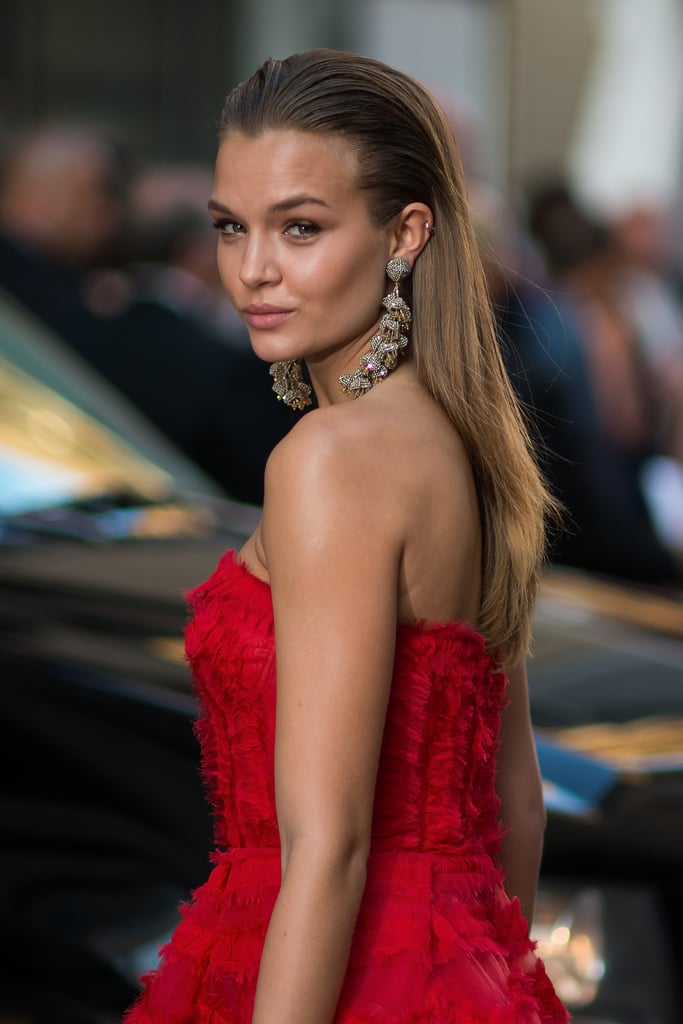 Not Only Did Josephine Skriver Wear A Red Sachin Babi Gown To