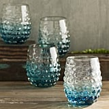 Dahlia Ombre Hobnail Double Old Fashioned Glass (Set of 4) ($46)