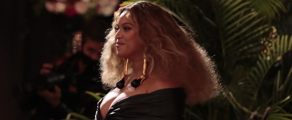 Beyoncé's Black Velvet Custom Gown by Valdrin Sahiti
