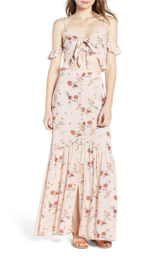 Floral Crop Tank and Maxi Skirt
